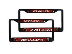 Atlanta Falcons NFL Black Plastic  Auto License Plate Frame