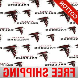 "Atlanta Falcons NFL Cotton Fabric - 60"" Wide - Style# 6209 -"