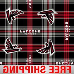 "Atlanta Falcons NFL Fleece Fabric - 60"" Wide - Style# 14717"