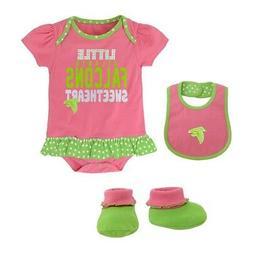 """Atlanta Falcons NFL Infant Pink """"Little Sweet"""" Creeper, Bib"""