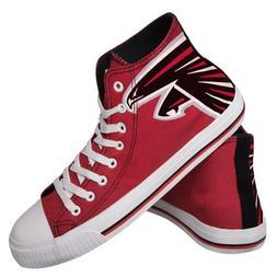 Atlanta Falcons NFL Men's High Top Big Logo Canvas Shoes FRE
