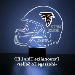 Atlanta Falcons NFL Night Light, Personalized FREE, 16 Color