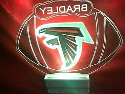 Atlanta Falcons NFL Night Light Personalized LED Plug In and