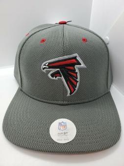 Atlanta Falcons NFL Team Apparel Gray Snapback Hat Cap - New