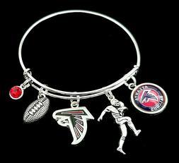 Atlanta Falcons NFL Team Logo Charm Football Bracelet Jewelr