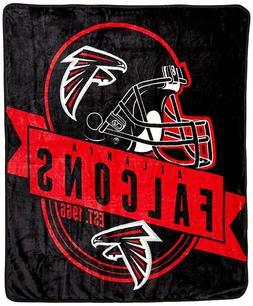 "Atlanta Falcons NFL Throw Blanket 50"" x 60"" Warm Plush Couch"