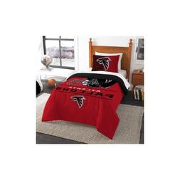 Atlanta Falcons NFL Twin Size 2 Pc Comforter and Sham Bed in