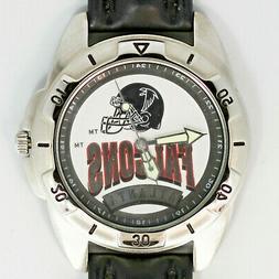 Atlanta Falcons, NFL, Fossil Unworn Vintage Watch Man's Blac