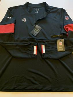 Nike Atlanta Falcons On Field 1/4 Zip Jacket Dri Fit Black M