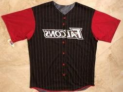 Atlanta Falcons Pinstripes Baseball Jersey Large Reversible