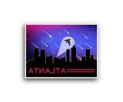 Atlanta Falcons Poster City Skyline Art Print Man Cave Decor