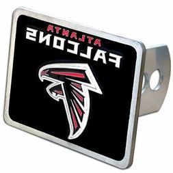 atlanta falcons rectangle logo trailer hitch cover