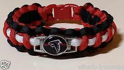 Atlanta Falcons Red, Black & White Handmade Paracord Bracele