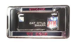 Atlanta Falcons RISE UP Laser Frame Chrome Metal License Pla