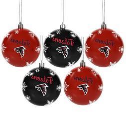 Atlanta Falcons Shatterproof BALLS Christmas Tree Holiday Or