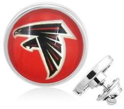 Atlanta Falcons Silver Pin Lapel Broach Football Team Gift w