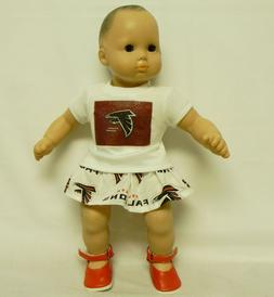 Atlanta Falcons Theme Outfit For 16 Inch Doll