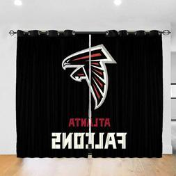 Atlanta Falcons Thicken Blackout Curtains Panels Thermal Win