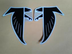 Atlanta Falcons throwback football helmet decals set