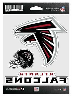 Atlanta Falcons Triple Sticker Multi Decal Spirit Sheet Auto