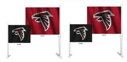 Atlanta Falcons Set of 2 Home and Away Car Flags
