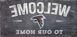 """Atlanta Falcons Welcome to our Home Wood Sign - 12"""" x 6""""  De"""