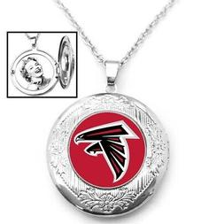 "Atlanta Falcons Womens 925 Silver 20"" Link Chain Necklace An"