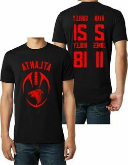 Atlanta Football Black T-shirt Tee,Julio Jones, Matt Ryan,Gu