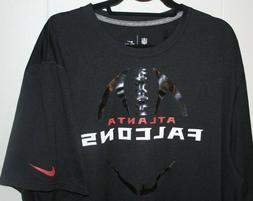 Black Men's Nike Dri-Fit Atlanta Falcons Team Apparel T-Shir