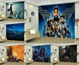Black Panther Blackout Window Curtain Drapes for Bedroom Liv