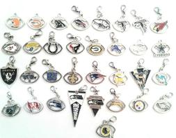 Buy 3, Get 2  NFL PRO FOOTBALL TEAM Dangle Charms w/Lobster