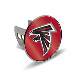 Chrome Metal Laser Hitch Cover - Atlanta Falcons