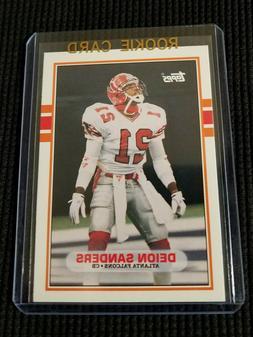 DEION SANDERS 1989 Topps #30T Traded SP Atlanta Falcons ROOK