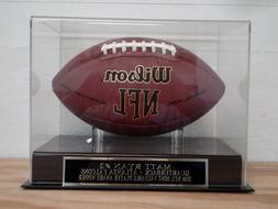 Matt Ryan Football Display Case With An Atlanta Falcons Engr