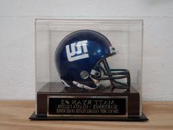 Matt Ryan Football Mini Helmet Display Case With A Falcons E