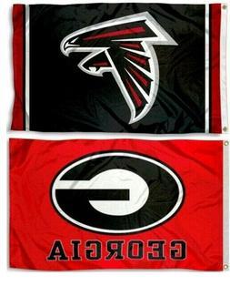 Georgia Bulldogs & Atlanta Falcons NFL 3x5 Large Sports Flag