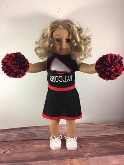 Handmade 18 Inch Doll Cheer Outfit Atlanta Falcons Doll Outf