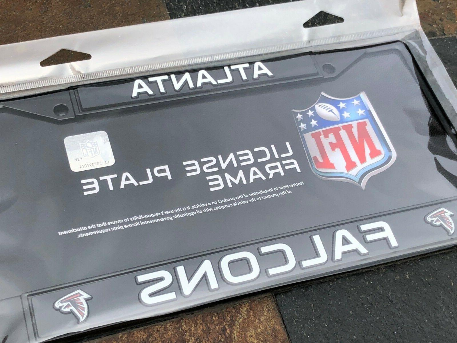 1 atlanta falcons black metal vehicle license