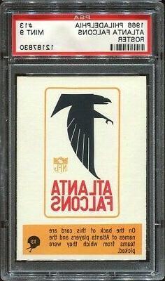 1966 Philadelphia #13 Atlanta Falcons roster PSA 9
