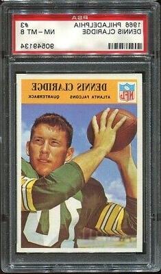 1966 Philadelphia #3 Bruce Claridge PSA 8 Atlanta Falcons