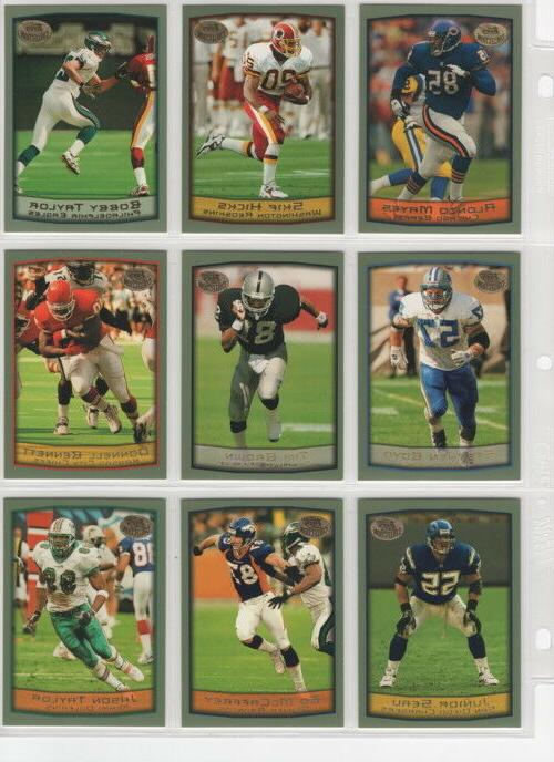 1999 topps football team sets pick your