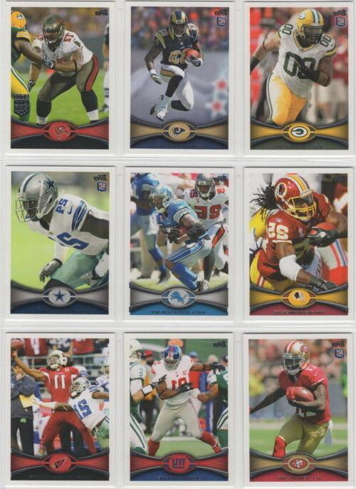 2012 topps football team sets pick your