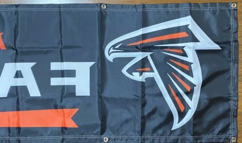 Atlanta Falcons Banner 2'x8' Ships And From