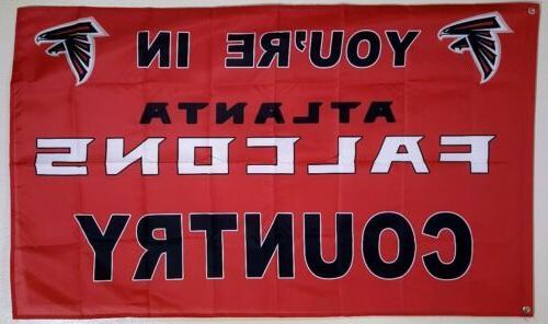 atlanta falcons banner 3x5 ft flag man