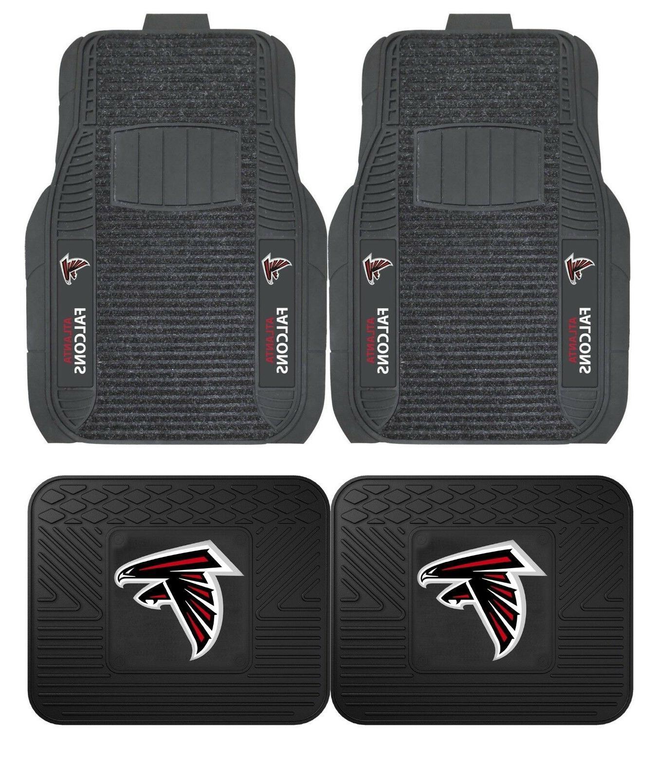 atlanta falcons deluxe auto floor mats car