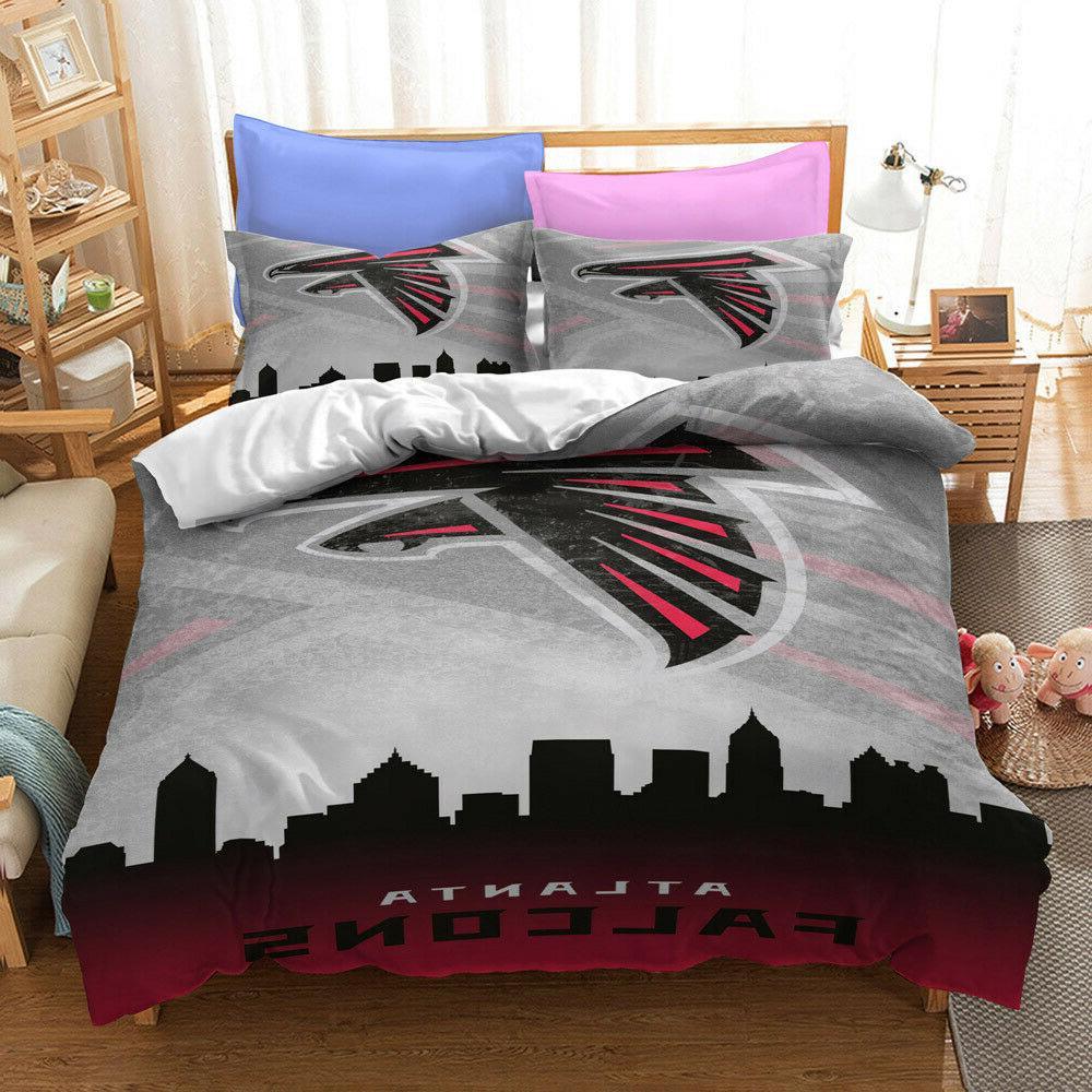 atlanta falcons fan fashion quilt cover 3pcs