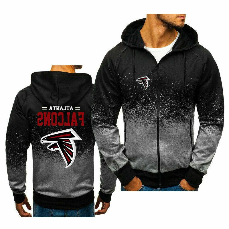 Atlanta Falcons Fans Hoodie Zipper Loose Sweatshirt Hooded S