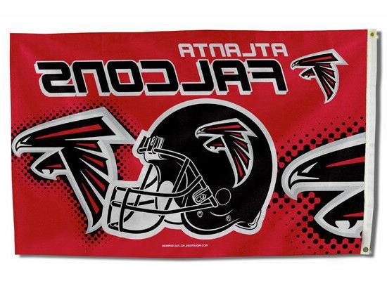 atlanta falcons flag 3 x5 nfl helmet