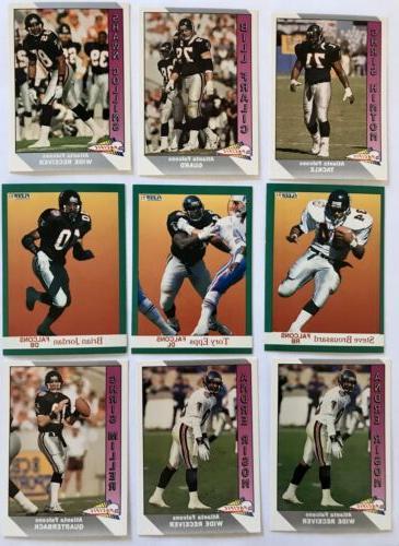 atlanta falcons football card team set 9