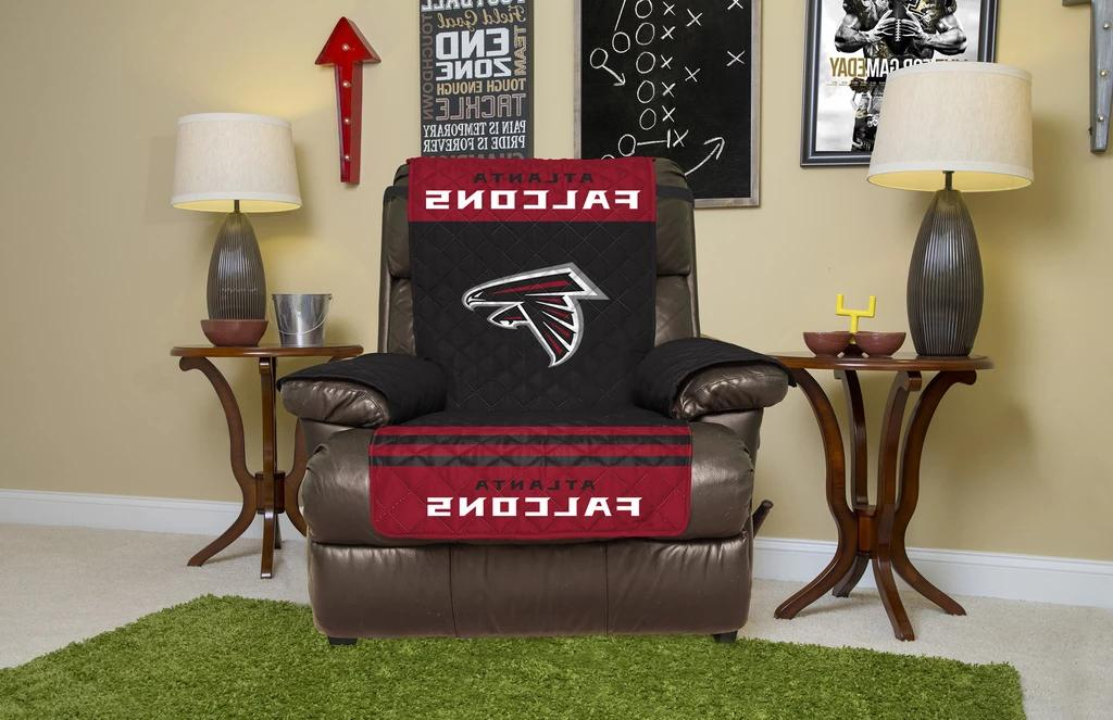 ATLANTA FALCONS FURNITURE PROTECTOR COVER RECLINER REVERSIBL
